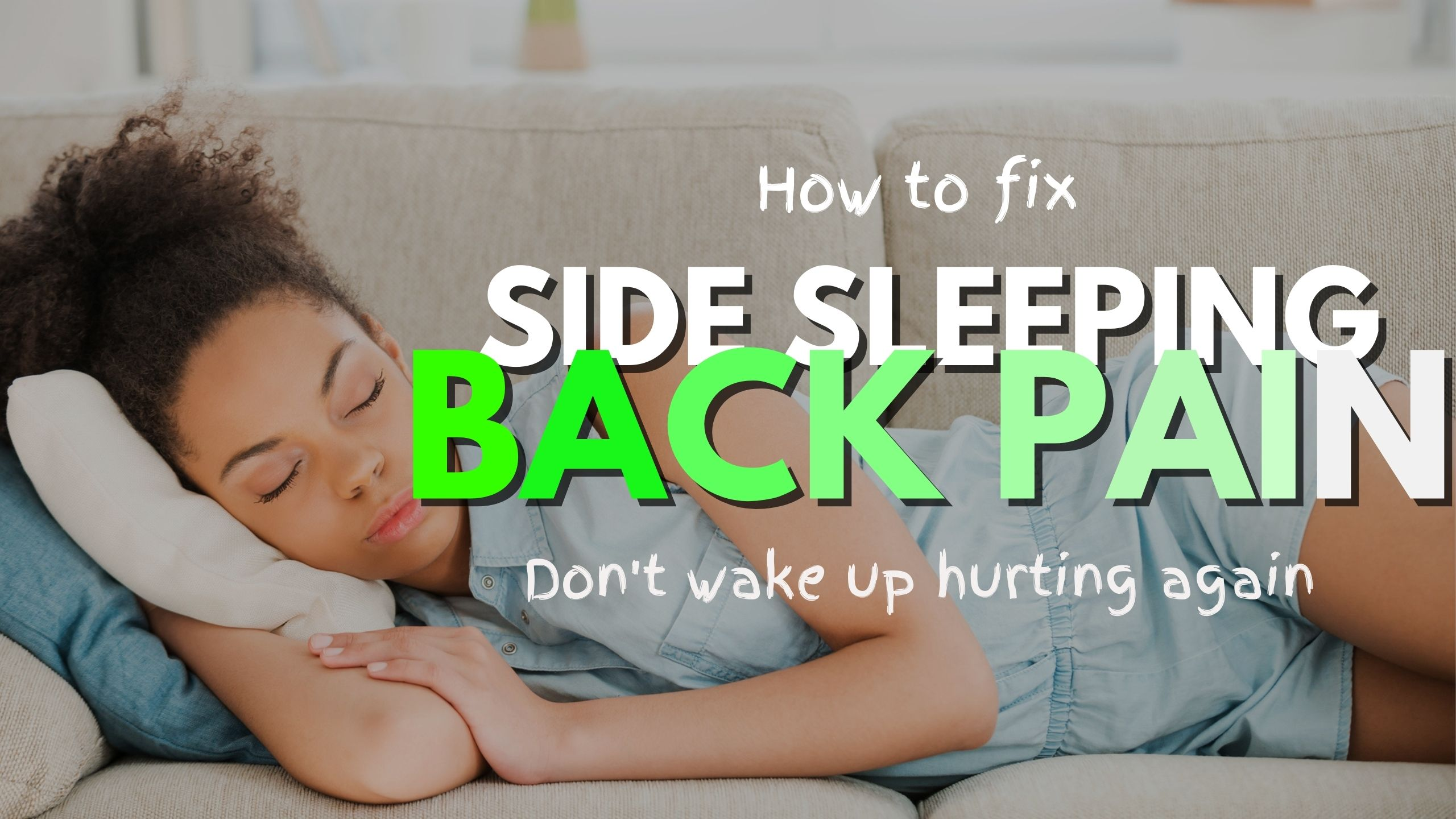 side sleeping back pain